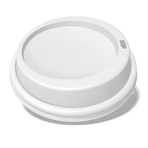 white dome lid for custom printed compostable paper cup