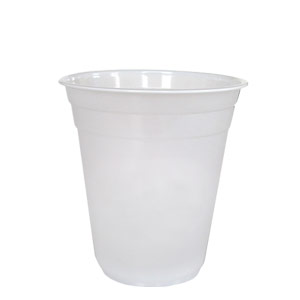 frosted-plastic cup 12oz
