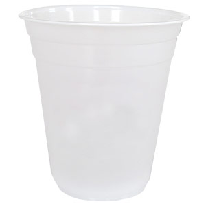 frosted-plastic cup 16oz